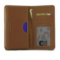 Leather Card Wallet for Huawei Nova 5T (Brown)
