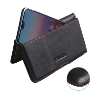 10% OFF + FREE SHIPPING, Buy the BEST PDair Handcrafted Premium Protective Carrying Huawei P20 Leather Wallet Pouch Case (Red Stitch). Exquisitely designed engineered for Huawei P20.