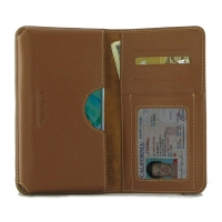 Leather Card Wallet for Huawei P30 (Brown)