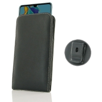Leather Vertical Pouch Belt Clip Case for Huawei P30