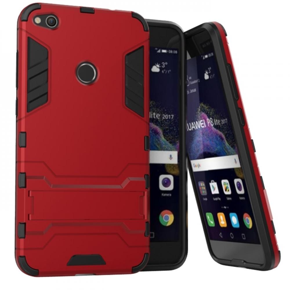 Huawei P8 Lite (2017) Tough Armor Protective Case (Red)
