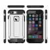 iPhone 7 Plus Hybrid Dual Layer Tough Armor Case Silver genuine leather case by PDair