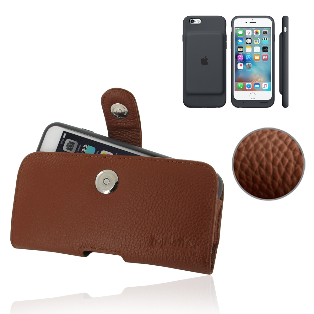 10% OFF + FREE SHIPPING, Buy PDair Protective  iPhone 6 | iPhone 6s in Official Smart Battery Case Genuine Leather Holster Case (Brown Pebble Genuine Leather)  You also can go to the customizer to create your own stylish leather case if looking for additi