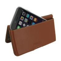 Leather Wallet Pouch for Apple iPhone 6 | iPhone 6s ( Compatible with 1.0 mm Slim Case / Cover on ) (Brown)