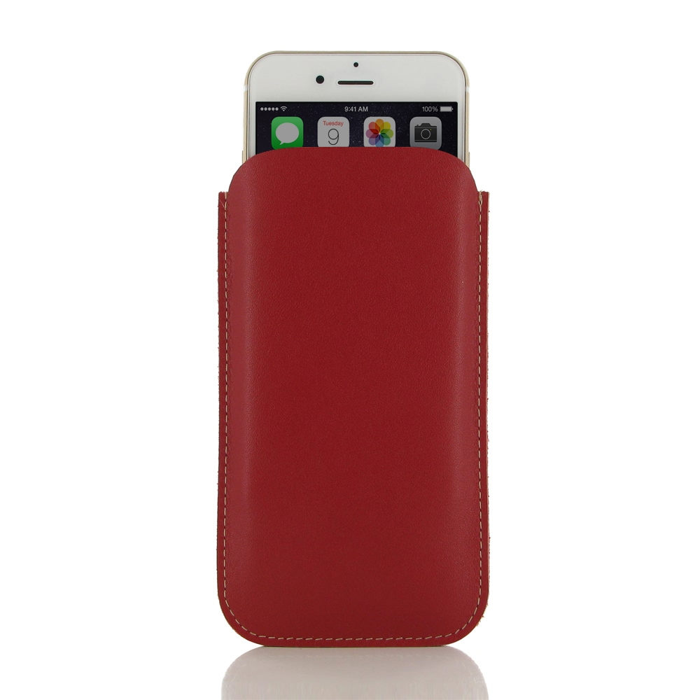 iphone 6 iphone 6s leather sleeve case red pdair. Black Bedroom Furniture Sets. Home Design Ideas