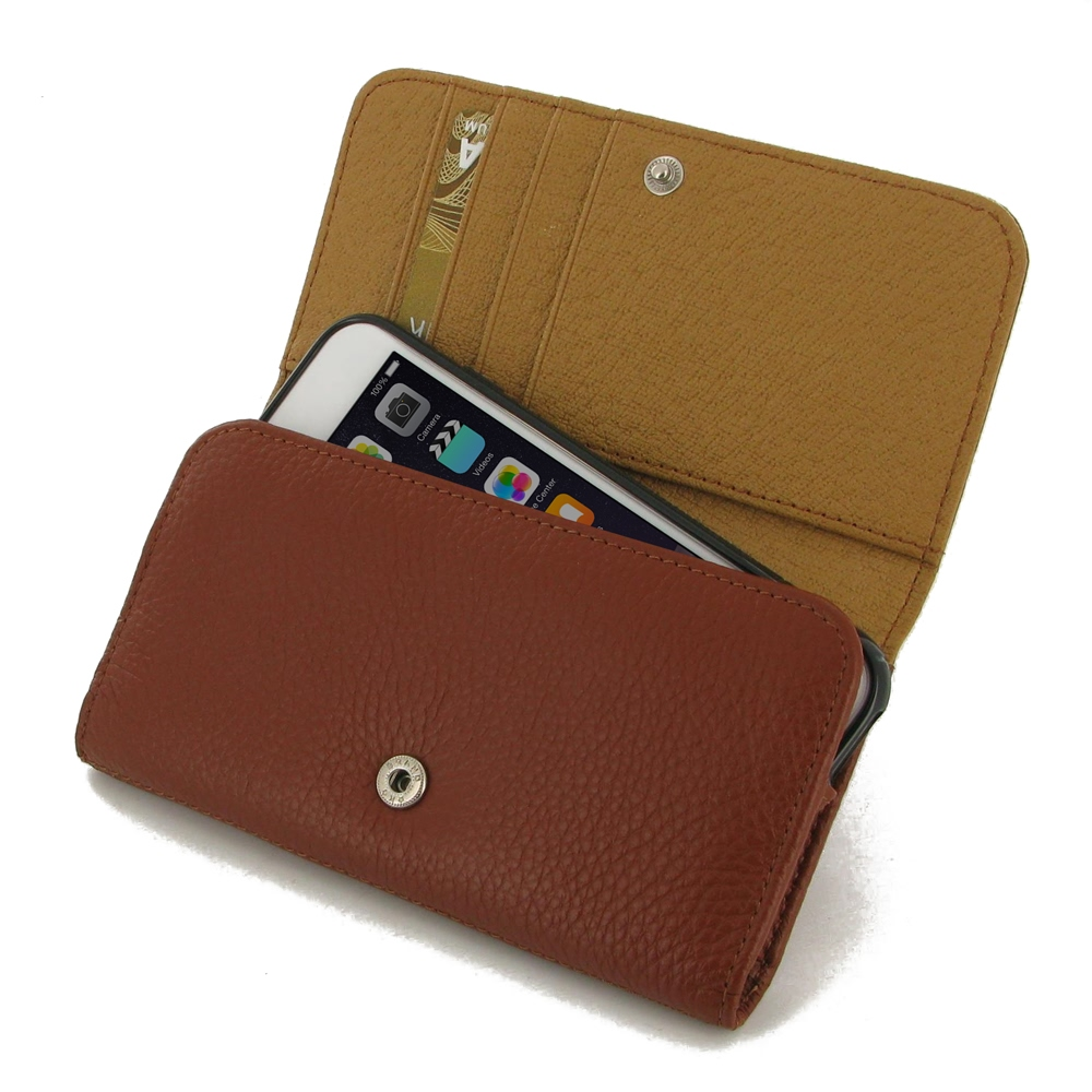 10% OFF + FREE SHIPPING, Buy PDair Quality Handmade Protective iPhone 6 | iPhone 6s Genuine Leather Wallet Case (Brown Pebble Genuine Leather) online You also can go to the customizer to create your own stylish leather case if looking for additional color