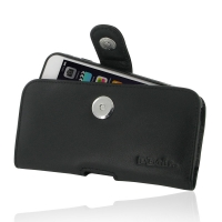 Leather Horizontal Pouch Case with Belt Clip for Apple iPhone 6 Plus | iPhone 6s Plus ( Compatible with 1.0 mm Slim Case / Cover on ) (Black Stitch)