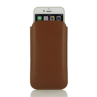 Simple Leather Sleeve Pouch Case for Apple iPhone 6 Plus | iPhone 6s Plus (Brown)