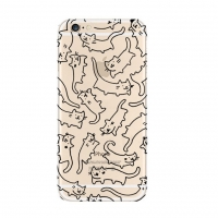 10% OFF + FREE SHIPPING, Buy Best PDair Top Quality iPhone Pattern Printed Soft Clear Case Drawing Cat which is available for iPhone 6 | iPhone 6s. You also can go to the customizer to create your own stylish leather case if looking for additional colors,