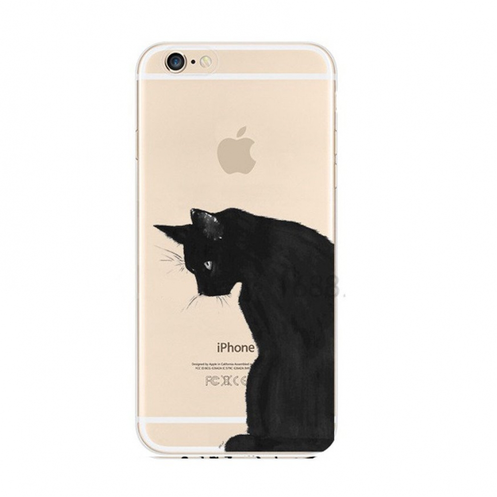 10% OFF + FREE SHIPPING, Buy Best PDair iPhone Pattern Printed Soft Clear Case Black Cat which is available for iPhone 6 | iPhone 6s, iPhone 6 Plus | iPhone 6s Plus. You also can go to the customizer to create your own stylish leather case if looking for