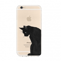 Black Cat iPhone 6s 6 Plus Pattern Printed Soft Case