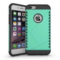 iPhone 6s 6 Plus Hybrid Combo Aegis Armor Case Cover (Green)