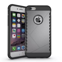 iPhone 6s 6 Plus Hybrid Combo Aegis Armor Case Cover (Grey)