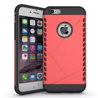 iPhone 6s 6 Plus Hybrid Combo Aegis Armor Case Cover (Pink)