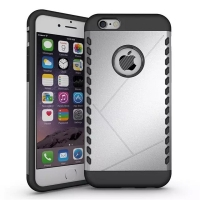 iPhone 6s 6 Plus Hybrid Combo Aegis Armor Case Cover (Silver)