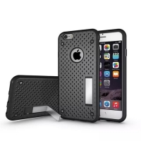 iPhone 6s 6 Plus  Hybrid Shockproof Bumper with Stand (Black)