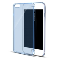 iPhone 6s 6 Plus SE 5s 5 Ultra Thin Soft Clear Case Back Cover (Blue)