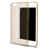 iPhone 6s 6 Plus SE 5s 5 Ultra Thin Soft Clear Case Back Cover (Gold)