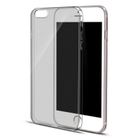 iPhone 6s 6 Plus SE 5s 5 Ultra Thin Soft Clear Case Back Cover (Grey)