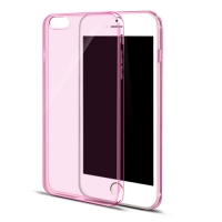 iPhone 6s 6 Plus SE 5s 5 Ultra Thin Soft Clear Case Back Cover (Pink)