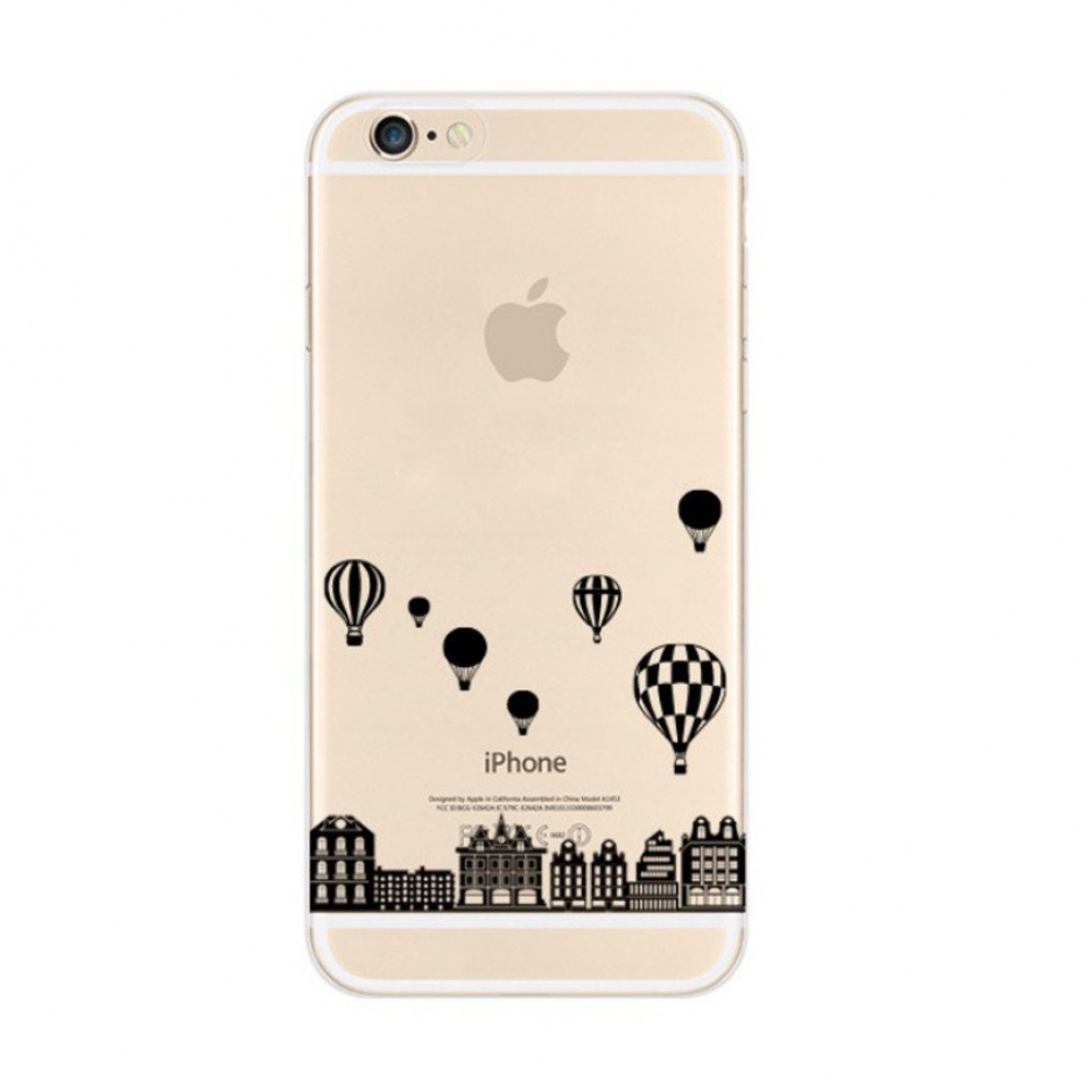 10% OFF + FREE SHIPPING, Buy PDair iPhone Pattern Printed Soft Clear Case Black Balloon City which is available for iPhone 5 | iPhone 5s SE 6 6s, iPhone 6 Plus | iPhone 6s Plus. You also can go to the customizer to create your own stylish leather case if