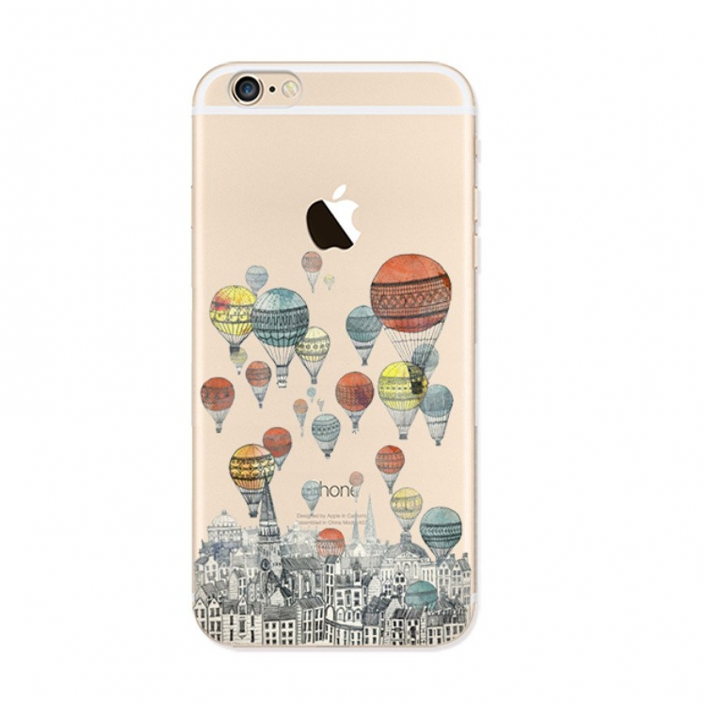 10% OFF + FREE SHIPPING, Buy PDair iPhone Pattern Printed Soft Clear Case Colorful Balloon City which is available for iPhone 5 | iPhone 5s SE 6 6s, iPhone 6 Plus | iPhone 6s Plus. You also can go to the customizer to create your own stylish leather case