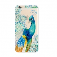 Colorful Peacock iPhone 6s 6 Plus SE 5s 5 Pattern Printed Soft Case