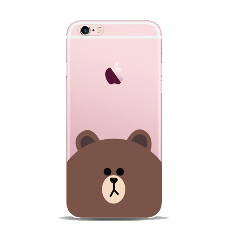 10% OFF + FREE SHIPPING, Buy Best PDair iPhone Pattern Printed Soft Clear Case Line Bear Apple which is available for iPhone 5 | iPhone 5s SE 6 6s, iPhone 6 Plus | iPhone 6s Plus. You also can go to the customizer to create your own stylish leather case i