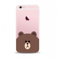 Line Bear Apple iPhone 6s 6 Plus SE 5s 5 Pattern Printed Soft Case