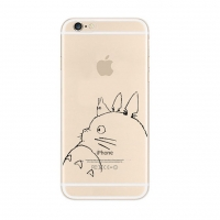 Totoro iPhone 6s 6 Plus SE 5s 5 Pattern Printed Soft Clear Case