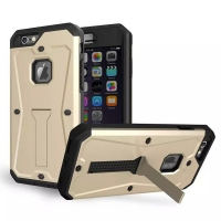 iPhone 6s 6 Plus SE 5s 5 Tank Tough Armor Protective Case (Gold)