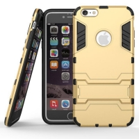 iPhone 6s 6 Plus SE 5s 5 Tough Armor Protective Case (Gold)