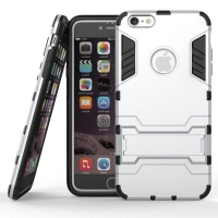 iPhone 6s 6 Plus SE 5s 5 Tough Armor Protective Case (Silver)