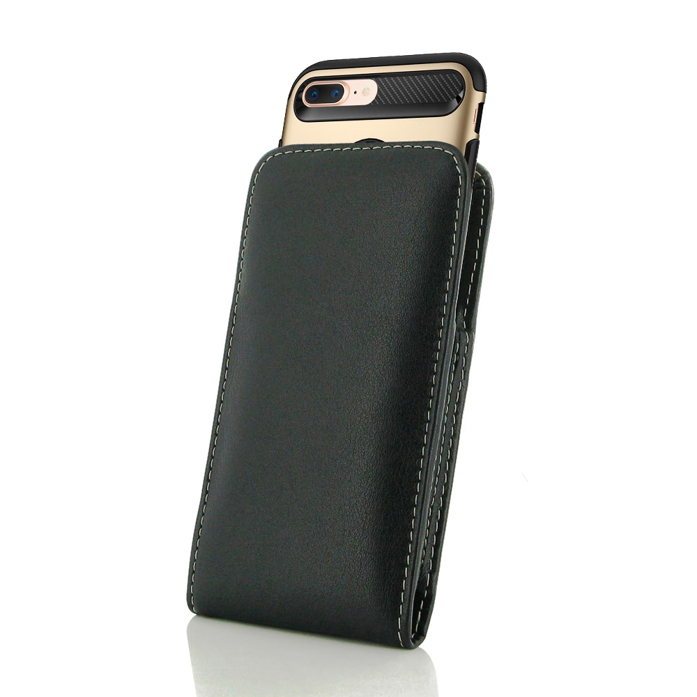 check out 4b142 4c987 Leather Vertical Pouch Case for Apple iPhone 6 Plus | iPhone 6s Plus (in  Large Size Armor Protective Case Cover)