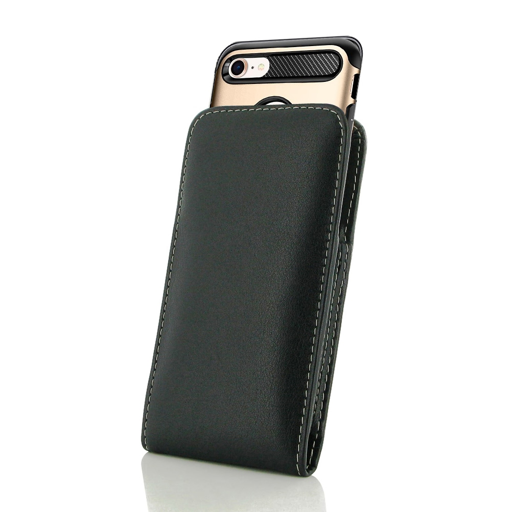 Leather Vertical Pouch Case for Apple iPhone 6 | iPhone 6s (in Large Size Armor Protective Case Cover)