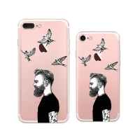 10% OFF + FREE SHIPPING, Buy Best PDair Top Quality iPhone Pattern Printed Soft Clear Case (Cool Man) which is available for iPhone 8, iPhone 8 plus,iPhone 7, iPhone 7 plus. You also can go to the customizer to create your own stylish leather case if look