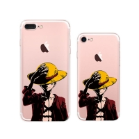 iPhone 7 7 Plus Pattern Printed Soft Clear Case (Cool One Piece Luffy) PDair