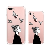 iPhone 7 7 Plus Pattern Printed Soft Clear Case (Cool Woman) PDair