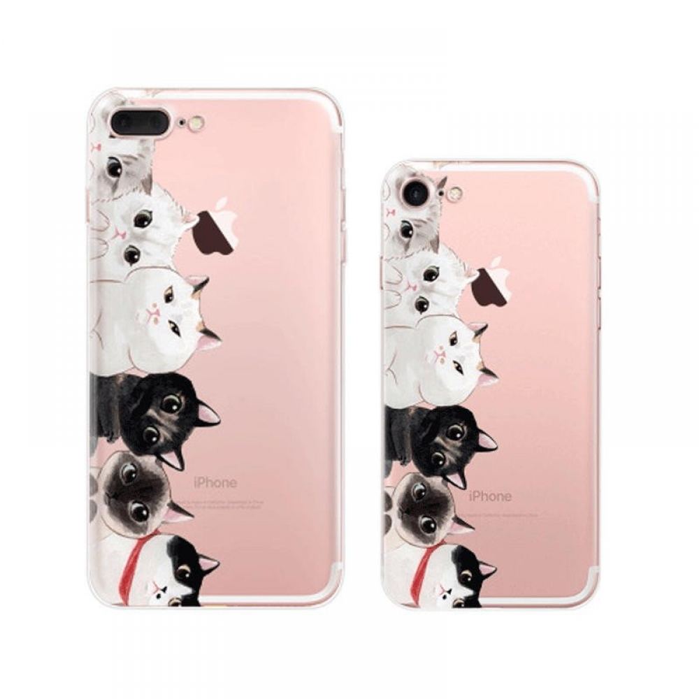 10% OFF + FREE SHIPPING, Buy Best PDair Top Quality iPhone Pattern Printed Soft Clear Case (Cutie Cats) which is available for iPhone 8, iPhone 8 plus,iPhone 7, iPhone 7 plus. You also can go to the customizer to create your own stylish leather case if lo