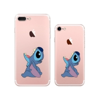 10% OFF + FREE SHIPPING, Buy PDair iPhone Pattern Printed Soft Clear Case Disney Lilo & Stitch Cartoon Eat Apple which is available for iPhone 8, iPhone 8 plus,iPhone 7, iPhone 7 plus. You also can go to the customizer to create your own stylish leather c