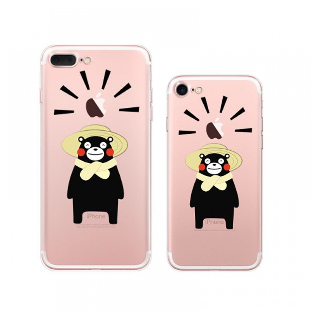 10% OFF + FREE SHIPPING, Buy Best PDair Top Quality iPhone Pattern Printed Soft Clear Case (Kumamon Farmer) which is available for iPhone 8, iPhone 8 plus,iPhone 7, iPhone 7 plus. You also can go to the customizer to create your own stylish leather case i