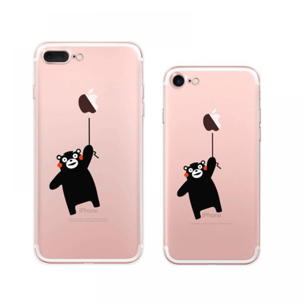 iPhone 7 7 Plus Pattern Printed Soft Clear Case (Kumamon Flying) PDair