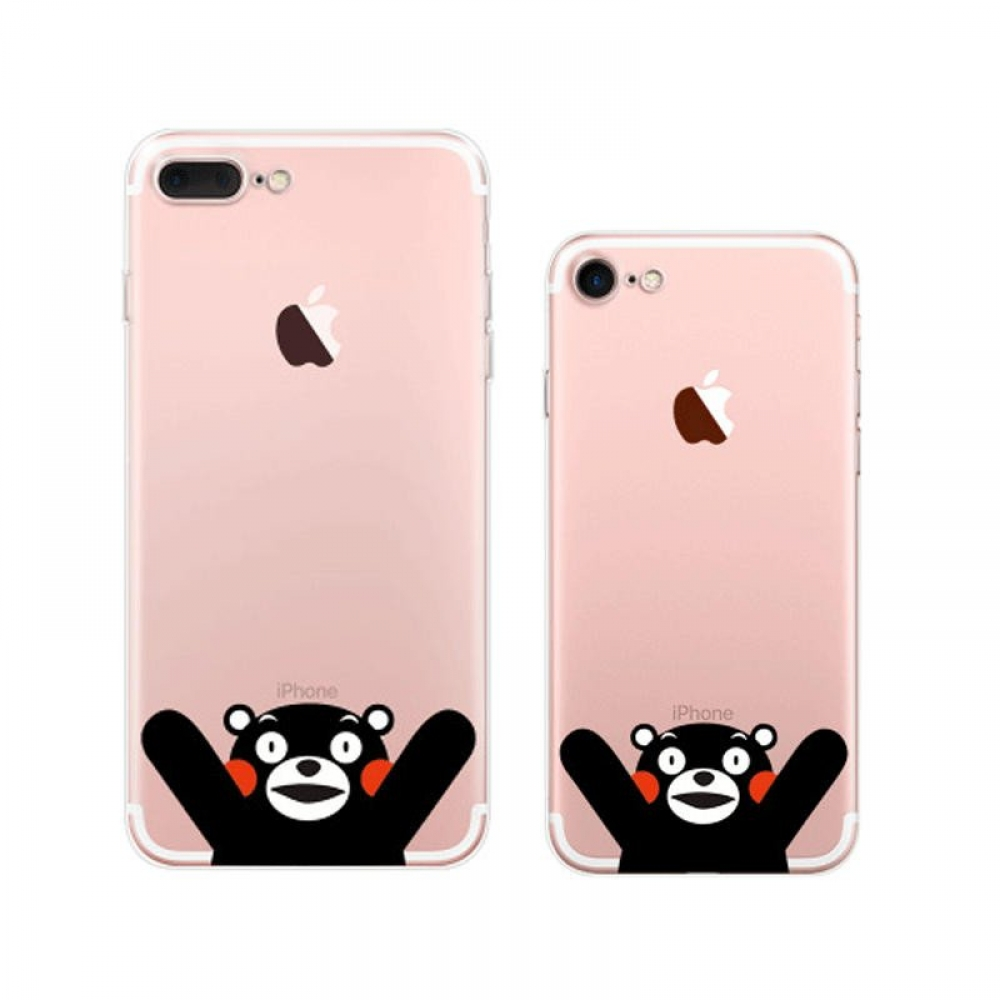 10% OFF + FREE SHIPPING, Buy Best PDair Top Quality iPhone Pattern Printed Soft Clear Case (Kumamon Hello) which is available for iPhone 8, iPhone 8 plus,iPhone 7, iPhone 7 plus. You also can go to the customizer to create your own stylish leather case if