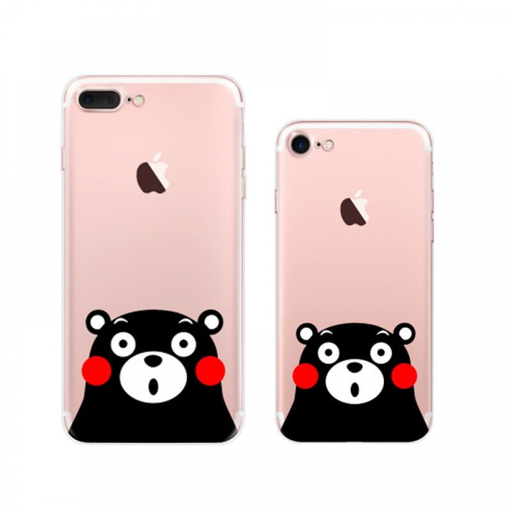 iPhone 7 7 Plus Pattern Printed Soft Clear Case (Kumamon) PDair