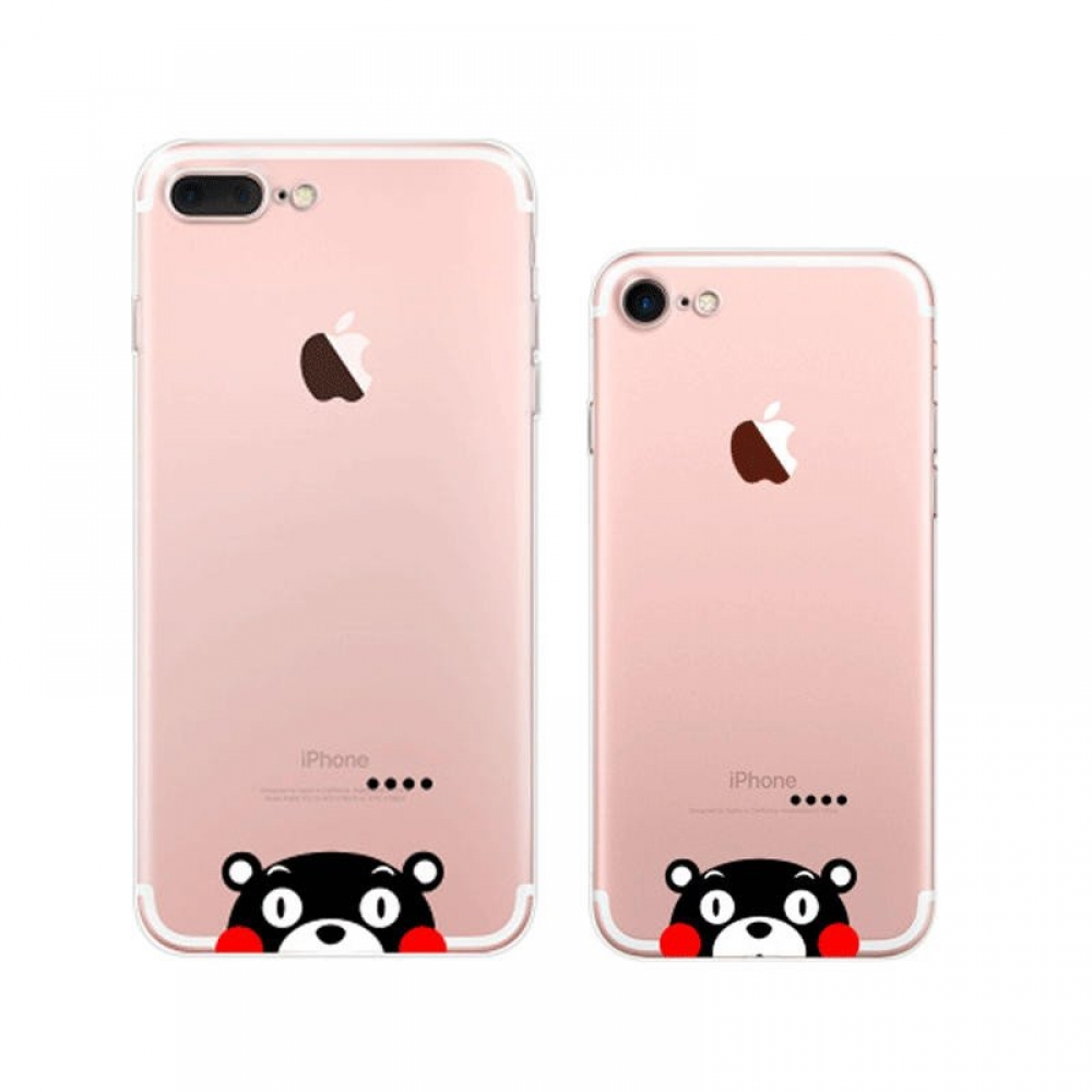 10% OFF + FREE SHIPPING, Buy Best PDair Top Quality iPhone Pattern Printed Soft Clear Case (Kumamon Thinking) which is available for iPhone 8, iPhone 8 plus,iPhone 7, iPhone 7 plus You also can go to the customizer to create your own stylish leather case