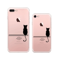 10% OFF + FREE SHIPPING, Buy Best PDair Top Quality iPhone Pattern Printed Soft Clear Case (Lonely Black Cat) which is available for iPhone 8, iPhone 8 plus,iPhone 7, iPhone 7 plus You also can go to the customizer to create your own stylish leather case