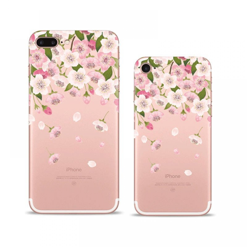 10% OFF + FREE SHIPPING, Buy Best PDair iPhone Pattern Printed Soft Clear Case (Petal Pink flowers) which is available for iPhone 8, iPhone 8 plus,iPhone 7, iPhone 7 plus. You also can go to the customizer to create your own stylish leather case if lookin