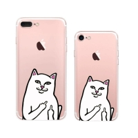 10% OFF + FREE SHIPPING, Buy Best PDair iPhone Pattern Printed Soft Clear Case Ripndip Cat Middle Finger Cat which is available for iPhone 8, iPhone 8 plus,iPhone 7, iPhone 7 plus. You also can go to the customizer to create your own stylish leather case