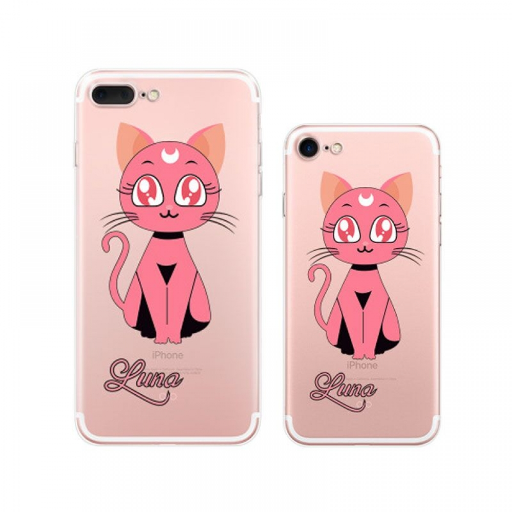 10% OFF + FREE SHIPPING, Buy Best PDair iPhone Pattern Printed Soft Clear Case Sailor Moon Luna Cat (Pink) which is available for iPhone 8, iPhone 8 plus,iPhone 7, iPhone 7 plus. You also can go to the customizer to create your own stylish leather case if