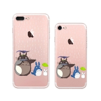 iPhone 7 7 Plus Pattern Printed Soft Clear Case (Totoro Raining) PDair